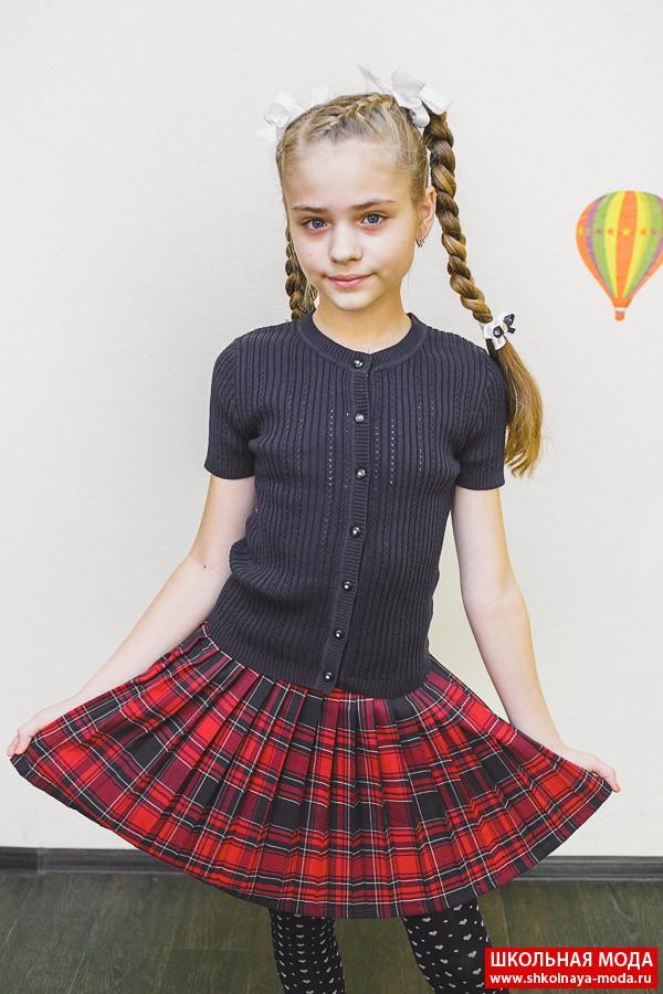 Вязание юбки для девочки школьная